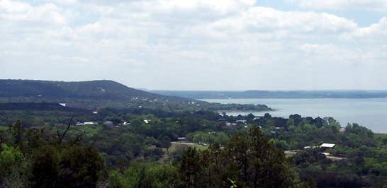 Panoramic Hilltop Views of Lake Buchanan